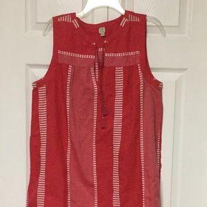 Loft Beach Size L Sleeveless Short Dress